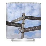 Stockholm Street Signs Shower Curtain