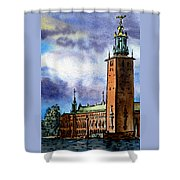 Stockholm Sweden Shower Curtain by Irina Sztukowski