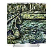Stockholm Waterfront Shower Curtain