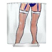 Stocking Legs Pop Art Shower Curtain