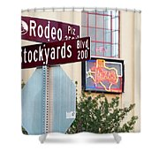 Stockyards Fort Worth 6815 Shower Curtain
