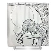 Stone Angel Shower Curtain by Loretta Nash