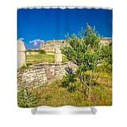 Stone Artefacts Of Asseria Ancient Town Shower Curtain