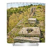 Stone Artifacts Of Ancient Town Of Asseria  Shower Curtain