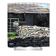 Stone Barn Doolin Ireland Shower Curtain