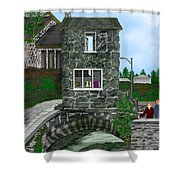 Stone Bridge House In The Uk Shower Curtain