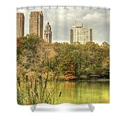 stone bridge in Central Park Shower Curtain