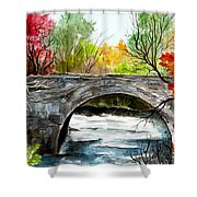 Stone Bridge In Maine  Shower Curtain