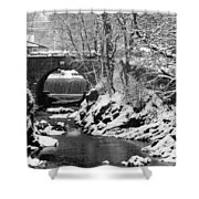 Stone-bridge Shower Curtain