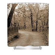 Stone Bridge On Cave Hill Road Shower Curtain