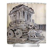 Stone Chariot Shower Curtain