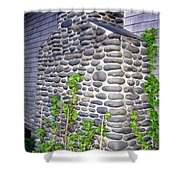 Stone Chimney Shower Curtain