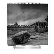 Stone Drum  Shower Curtain
