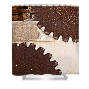 Stone Eater In Lime Stone Quarry - Lithica Shower Curtain