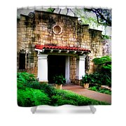Stone Entry Shower Curtain