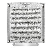 Stone Fancy Desiderata Poem Shower Curtain