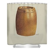 Stone Fruit Jar With Star Shower Curtain
