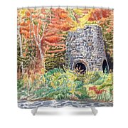Stone Furnace Shower Curtain
