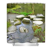 Stone Garden Shower Curtain