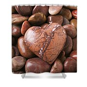 Stone Heart Shower Curtain by Garry Gay