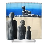 Stone Horizon Shower Curtain
