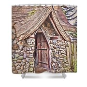 Stone House In Skagit County Shower Curtain