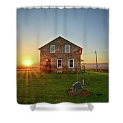 Stone House Sunrise Shower Curtain