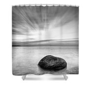 Stone In The Sea Shower Curtain