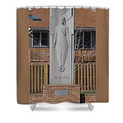 Stone Jesus Shower Curtain