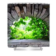 Stone Lookout Shower Curtain
