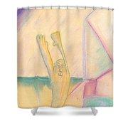 Evo Stone Man Emotes Shower Curtain