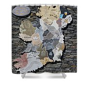 Stone Map Of Ireland Shower Curtain