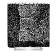 Stone Mason Scars Monochrome Shower Curtain