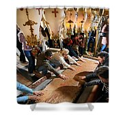 Stone Of Anointing Shower Curtain