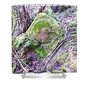 Stone Of Peace Shower Curtain