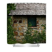 Stone Outhouse 1 Shower Curtain