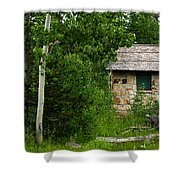 Stone Outhouse 2 Shower Curtain