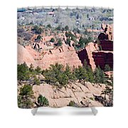 Stone Quarry In Red Rock Canyon Open Space Park Shower Curtain