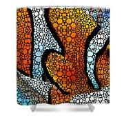 Stone Rock'd Clown Fish 2 - Sharon Cummings Shower Curtain
