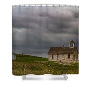 Stone Schoolhouse Shower Curtain