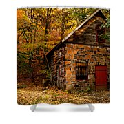 Stone Shed Shower Curtain