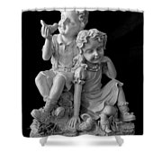Stone Siblings Shower Curtain
