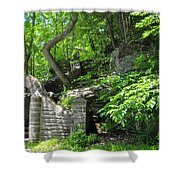 Stone Stairway Along The Wissahickon Creek Shower Curtain