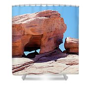 Stone Temple Valley Of Fire Shower Curtain