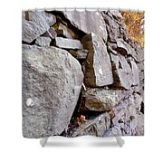 Stone Wall 2 Shower Curtain