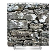 Stone Wall Detail Doolin Ireland Shower Curtain