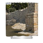 Stone Wall In Foca Shower Curtain