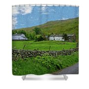 Stone Wall Lake District - P4a16012 Shower Curtain