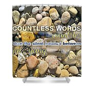Stone Wisdom Shower Curtain