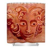 Stone Woman Shower Curtain